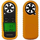 Anemometer Proster Digital LCD Wind Speed Meter Gauge Air Flow Velocity Measurement Thermometer with Backlight for Windsurfing Kite Flying Sailing Surfing Fishing Etc
