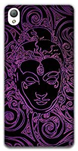 The Racoon Grip Neon Buddha hard plastic printed back case / cover for Sony Xperia Z3