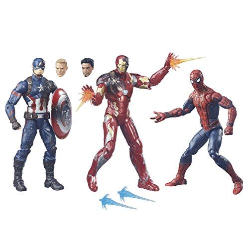 ハズブロ キャプテンアメリカ / シビルウォー マーベルレジェンド 6インチフィギュア 3パック アイアンマン&キャプテンアメリカ&スパイダーマン / Hasbro CIVIL WAR 2016 MARVEL LEGENDS 3PACK IRON MAN & CAPTAIN AMERICA & SPIDER-MAN 【並行輸入版】 レジェンズ