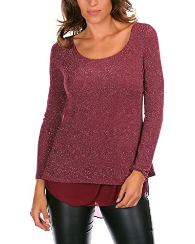PIPER AND JUNE Pullover Corinne bordeaux