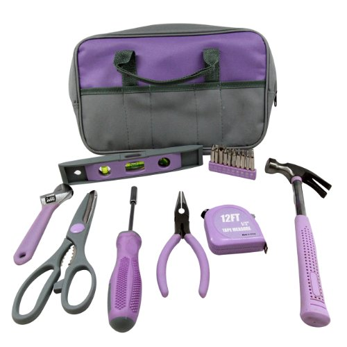 Iit 89808 Ladies Lavender 9 Piece Tool Set With Zippered Case