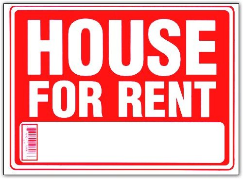 HOUSE FOR RENT 9 X 12 Real Estate Sign