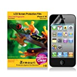 armouri Clear Oleophobic (Anti-Fingerprint) Screen Protector for Apple iPhone 4/4S - {Optics Series} - (Front & Back)