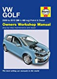 Volkswagen VW Golf 1.4 S & 1.6 TDi 2.0 TDI SE 2009 - 2012 Haynes Manual M5633