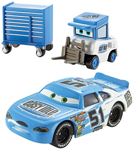 "Disney/Pixar Cars, Piston Cup Die-Cast Vehicles, Ruby ""Easy"" Oaks and Easy Idle Pitty #7/18 and 8/18, 1:55 Scale"
