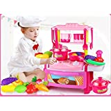 Toys Bhoomi Dream Kitchen Interactive Little Chef Kids Simulation Cookware Play Set With Light & Sound - B0731JTXZZ