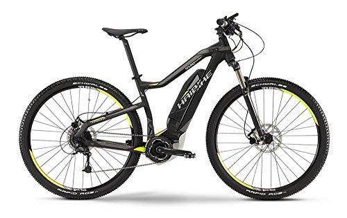 Haibike SDURO HardNine SL E-Bike Elektofahrrad 9-G Deore 11Ah 400Wh E-Mountainbike schwarz/lime/grau matt 2015 (RH 40 - 29 Zoll)