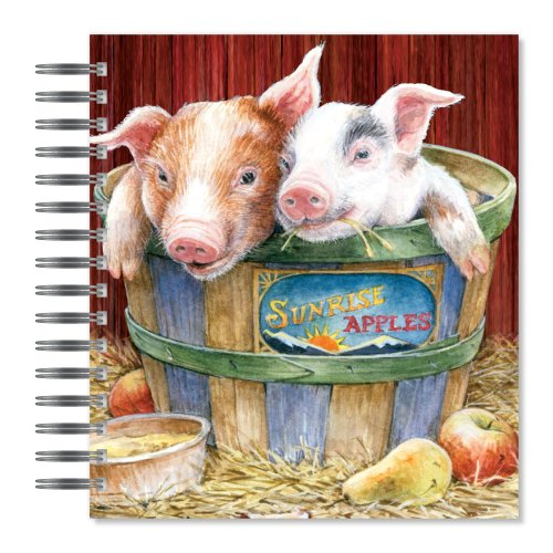 Ecoeverywhere Pigs In A Blanket Picture Photo Album, 18 Pages, Holds 72 Photos, 7.75 X 8.75 Inches, Multicolored (Pa57851) front-343682