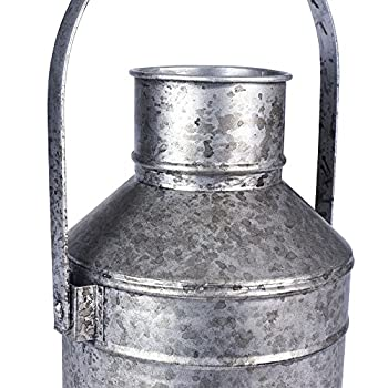 "Household Essentials 9730-1 Milk Pail Vase, 14.75"" ,,"