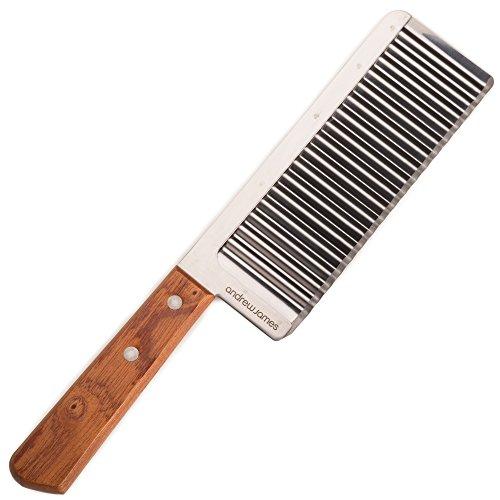 Couteau avec Lame Ondulée Andrew James en Inox - Pour Couper Légumes et Plus - Garantie 2 ans