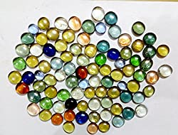 Nks Decorative Glass Pebbles (Pack Contains 80 Pebbles) Colorful Vase Fillers For Home Decoration