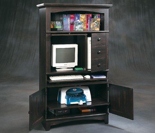 Buy Low Price Comfortable Arbor Valley Computer Armoire in Antique Black (B000P53K3Y)
