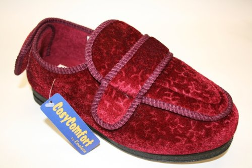 New Ladies NEW Coolers CosyComfort Orthopaedic Slippers 200 Burgundy UK4