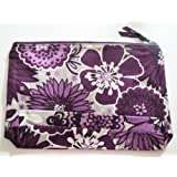 thirty one bags Zipper Pouch in Plum Awesome Blossom