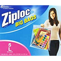 Ziploc Big Bag Double Zipper, Large (5-Count)