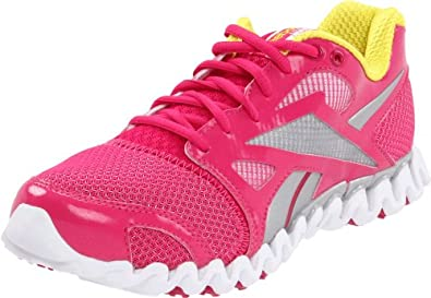 Reebok Women's Zignano Fly 2 Running Shoe,Pink/Pure Silver/Sun Rock/White,5 M US