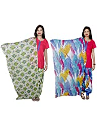 Indistar Women's Cotton Patiala Salwar With Dupatta Combo (Pack Of 2 Salwar With Dupatta) - B01HROOPQG