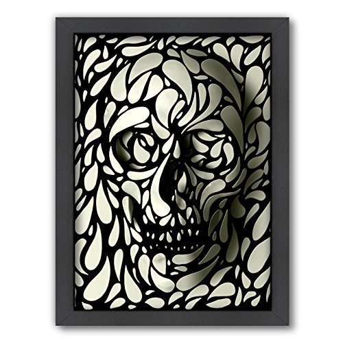 "American Flat Corporation Art A105P035 ""Skull 4"" Wall Art, 27 by 21 by 1.75-Inch"