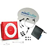 AudioFlood Waterproof iPod Shuffle Red 5th Gen Waterproof Headphones Included
