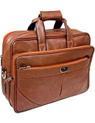 "AYS Stylish 15.5"" Faux Leather Expandable Specious Laptop Sleeve Messenger Office Bag"
