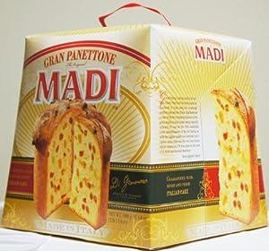 GRAN PANETTONE MADI ITALIAN CAKE Net Wt 1 KG (2.2 Lbs) (MADE IN ITALY)