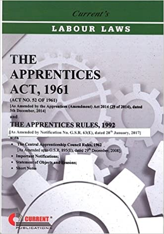 Apprentices Act 1961 -Book 2017 Edition- Current Publications