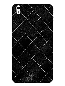 HTC Desire 816 Back Cover - Black Lines Geomatrical Pattern - Designer Printed Hard Shell Case
