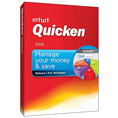 Quicken Deluxe 2016 Personal Finance & Budgeting Software