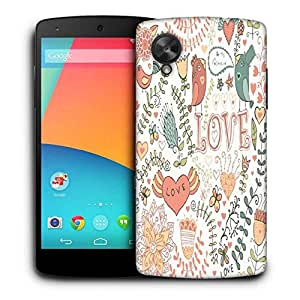 Snoogg Love Colorful Birds Printed Protective Phone Back Case Cover For LG Google Nexus 5