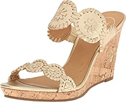 Jack Rogers Women\'s Luccia Wedge Sandal, Gold, 9.5 M US