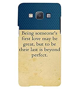 Fuson 3D Printed Quotes Designer back case cover for Samsung Galaxy A5 - D4308