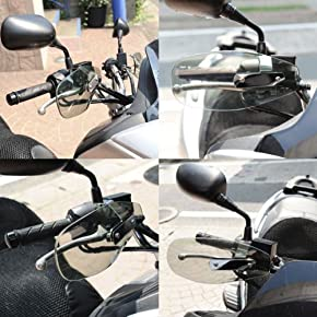 【ハンドガード】ナックルガード クリアタイプ 汎用 バイク オートバイ