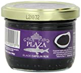 Plaza Premium Amazon Quality Capelin Caviar, Black, 3.52 Ounce