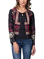 GOLDEN LIVE Chaqueta Embroidered Floral (Negro)