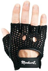 Markwort Knit Back Weight Lifting Gloves, Black, Large