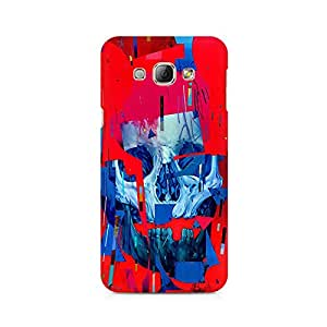Mobicture Skull Abstract Premium Printed Case For Samsung A8