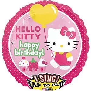 "Anagram Hello Kitty Happy Birthday Sing A Tune 28"" Mylar Foil Balloon"