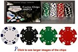 100 11.5 gram Poker Chips in PVC Case w/Lid & Las Vegas Gift Box, Choose from 5 designs