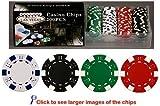 100 11.5 gram Poker Chips in PVC Case w/Lid & Las Vegas Gift Box, Choose from 5 design gram Poker Chips in PVC Case w/Lid & Las Vegas Gift Box, Choose from 5 designs 100 11.5