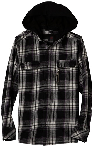 Micros Boys 8-20 Pine Brushed Flannel Shirt