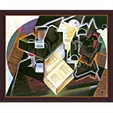 Book, Pipe And Glasses By Juan Gris - ArtsNyou Printed Paintings - B00QA0BO2M