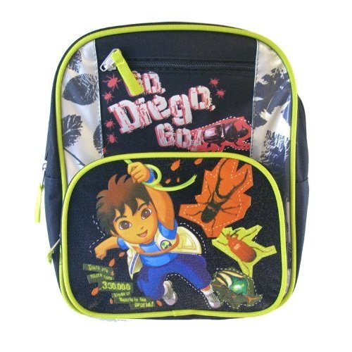 Go Diego Go Adventure Toddler Kids Backpack for 2-5 Years Old Boys
