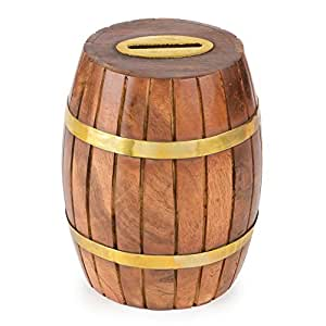 Rusticity wooden coin bank 4 in x 4 in for Handmade coin bank