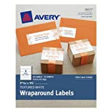 Avery Textured Wraparound Labels, White, 7.85 x 1.75 Inches, Pack of 50 (08217)