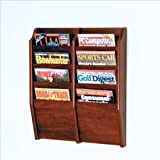 Wooden Mallet 8-Pocket Cascade Magazine Rack Mahogany