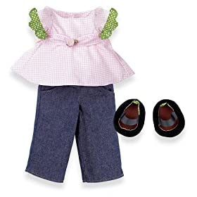 North American Bear Company Rosy Cheeks Big Sister Shirt & Jeans Set