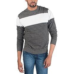 Provogue Men's Cotton Sweater (8903522446115_103587-GY-43_Medium_Charcoal)