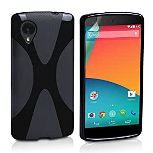Generic Premium Quality TPU S Line case for LG Nexus 5 - Black X Line