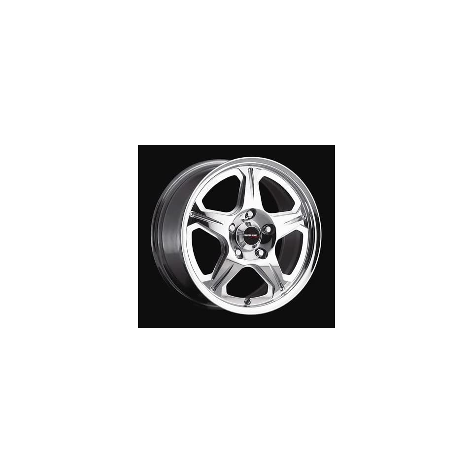 Center Line Wheels 3455707439 Wheel, Neutron, Aluminum, Polished, 15 in. x 7 in., 4 x 100mm Bolt Circle, 5.671 in. Backspace, Each