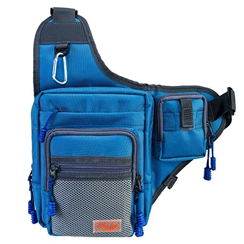 Thanksgiving-Sale-Piscifun-Sports-Shoulder-Bag-Fishing-Tackle-Bag-Crossbody-Messenger-Sling-Bags